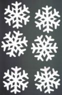 10 Large Snowflake Die Cuts - Pearl White Card